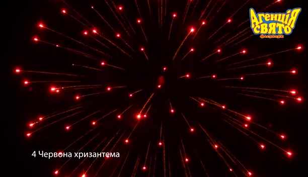 4″ Червона хризантема