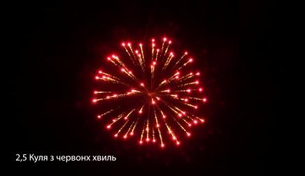 2,5″ Куля з червоних хвиль від pirozabava.com