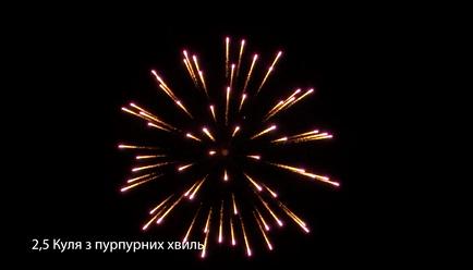 2,5″ Куля з пурпурних хвиль від pirozabava.com