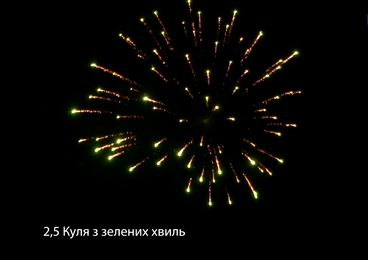 2,5″ Куля з зелених хвиль від pirozabava.com